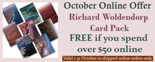 October 2019 Special Offer - spend $50 on online shipped orders and receive a free set of Richard Woldendorp cards