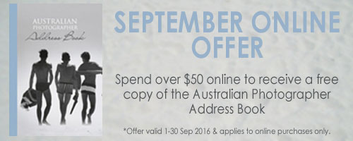 September online offer - Australian Photographer Address Book