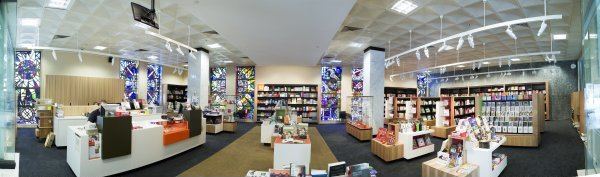 interior view of the National Library of Australia Bookshop