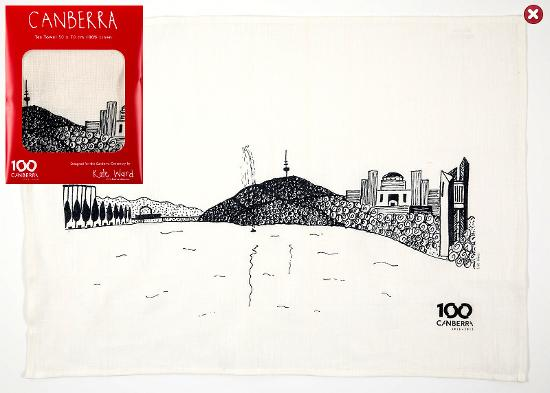Canberra Icons 2 Tea Towel