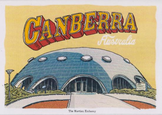 Card - Martian Embassy - Greetings from Canberra