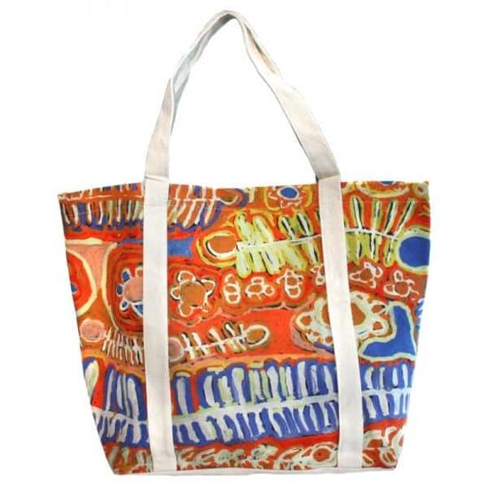 Big Canvas Tote Bag - Malikijarra Jukurrpa (Two Dogs Dreaming)
