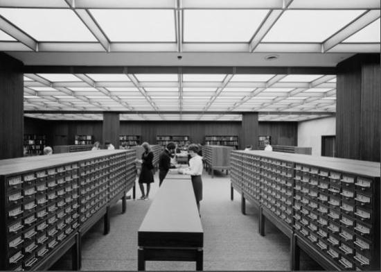 1968 postcard - Card Catalogue
