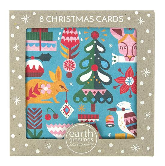 Christmas Card Pack - Bushland Greetings - 8 Cards