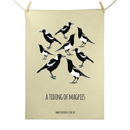 Tea Towel - Tiding of Magpies