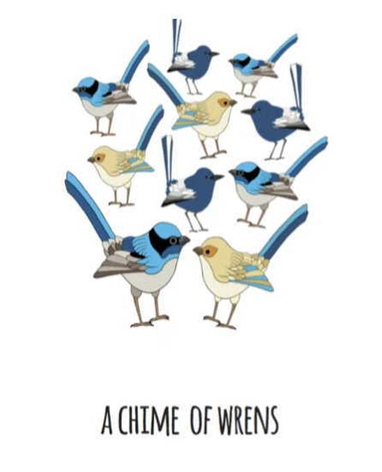 Print - Chime of Wrens - A4