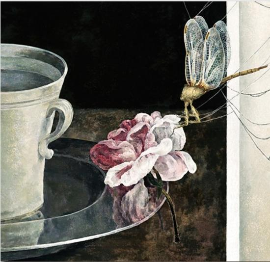 Card - Still Life with Dragon Fly