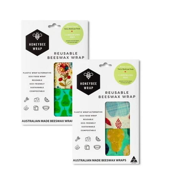 Honeybee Wrap Medium Twin Pack