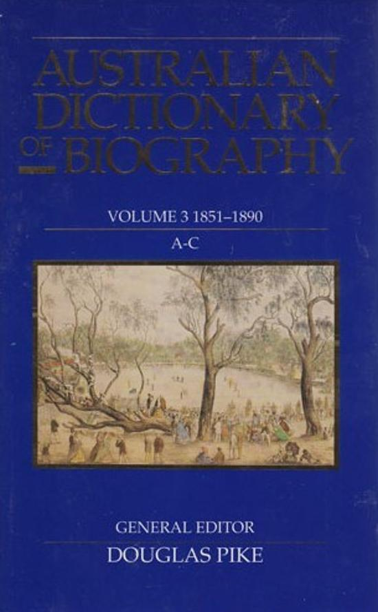 Australian Dictionary of Biography, V.3