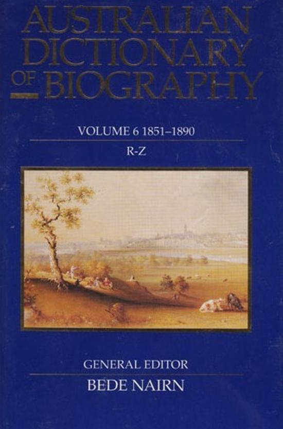 Australian Dictionary of Biography, V.6