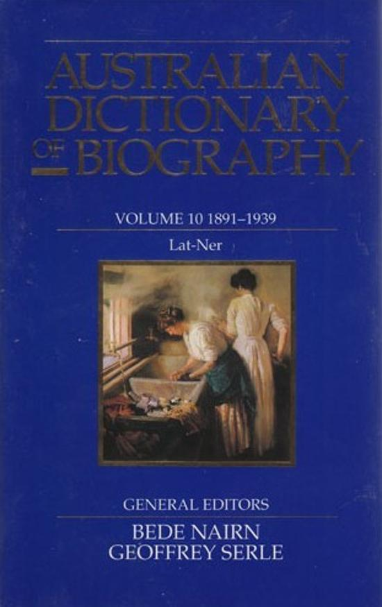 Australian Dictionary of Biography V.10
