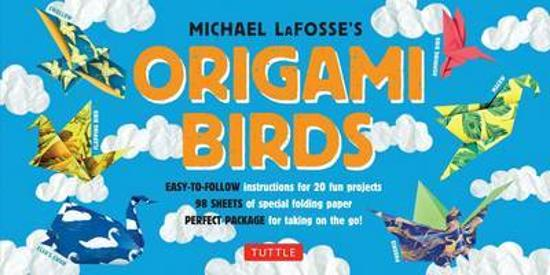 Origami Birds Kit - Origami Kit with 2 Books, 98 Papers, 20 Projects
