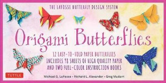 Origami Butterflies Kit - The LaFosse Butterfly Design System - Kit Includes 2 Books, 12 Projects, 98 Origami Papers and Instructional DVD