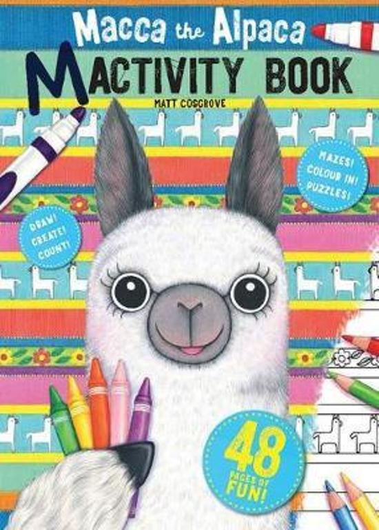 Macca the Alpaca Colouring and Activity Book