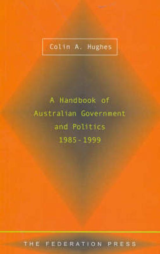 Handbook of Australian Government and Politics, 1985-1999