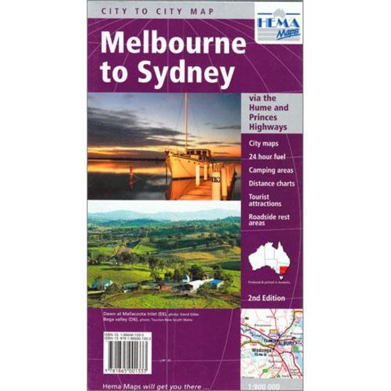 Melbourne to Sydney Map