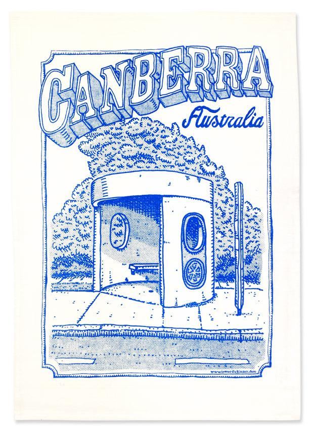 Tea Towel - Canberra Bus Shelter