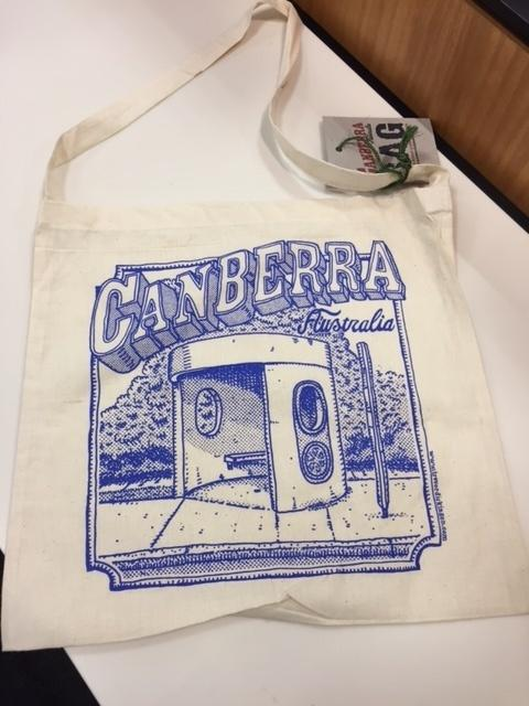 Library Bag Canberra Bus Shelter