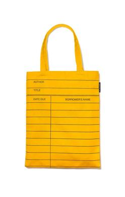 Tote Bag - library card (yellow)