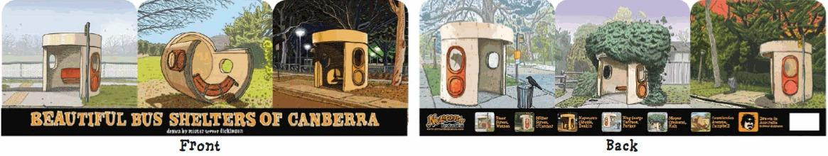 Beautiful Bus Shelters of Canberra - 6 Drink Coasters