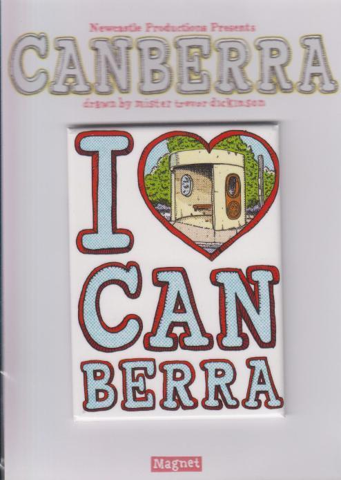 I Heart Canberra Magnet - Newcastle Productions - WOBLTD10