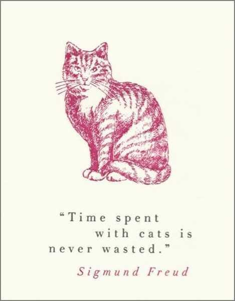 Card - Time with Cats is never wasted