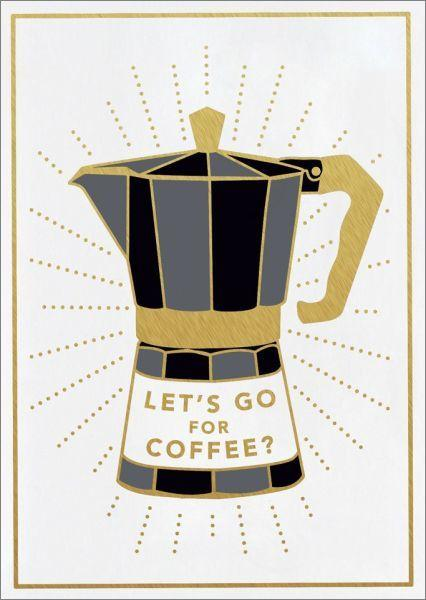 Mini Card - Let's Go For Coffee