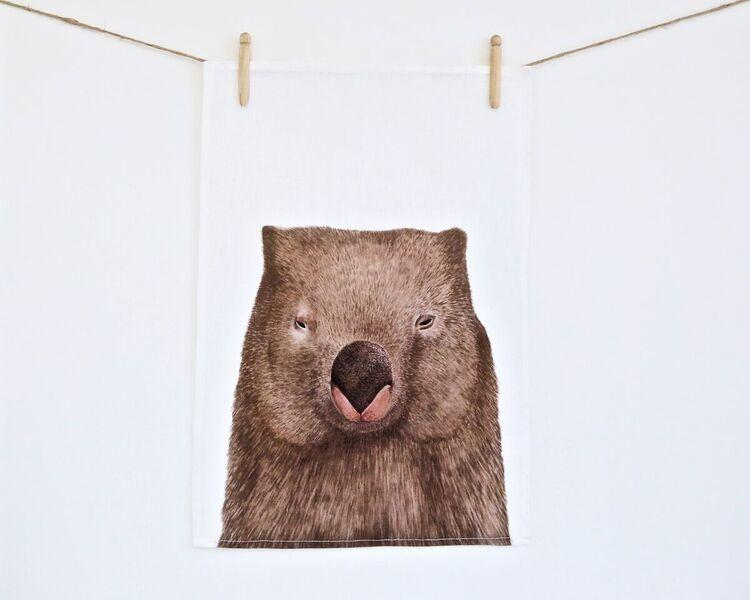Tea Towel - Winston the Wombat