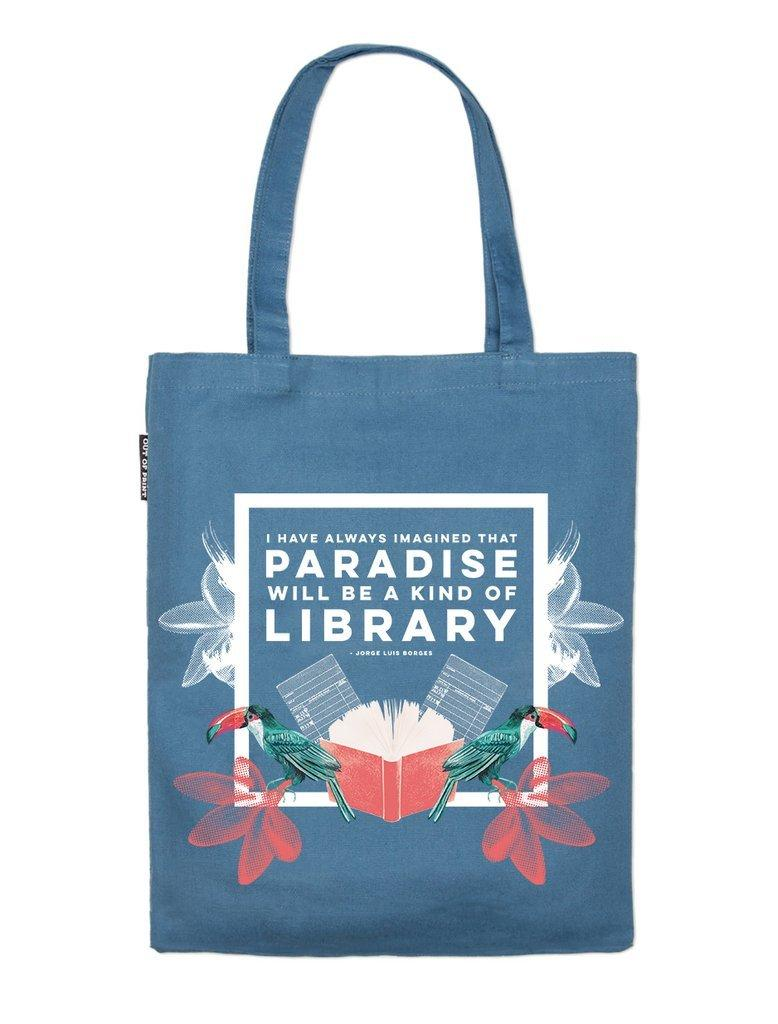 Tote Bag - Paradise will be a Kind of Library