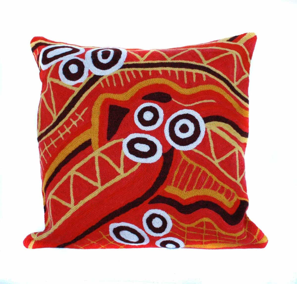 Cushion Cover - Emu Dreaming - Wool 30cm