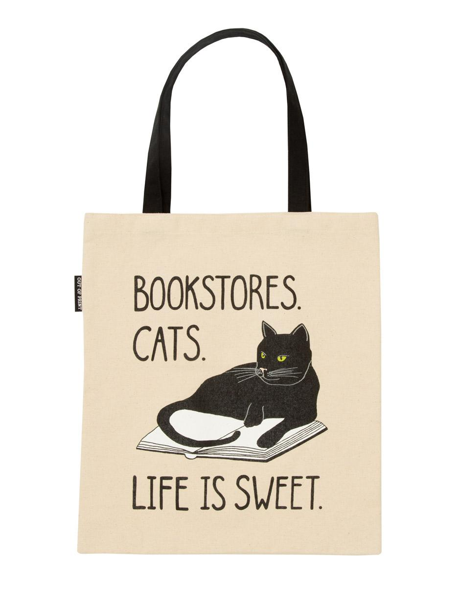 Tote Bag - Bookstore Cats