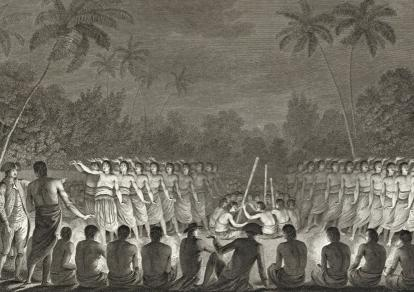 Cook Postcard - A Night Dance by Men in Hapaee