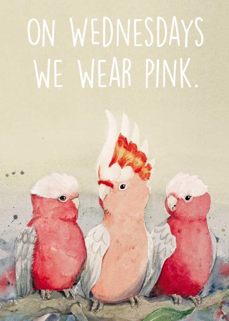 Card - Mean Girlahs (On Wednesdays We Wear Pink)