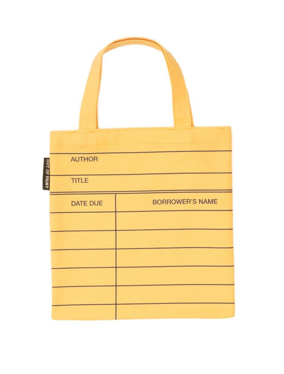 Kids Tote Bag - Library Card (yellow)