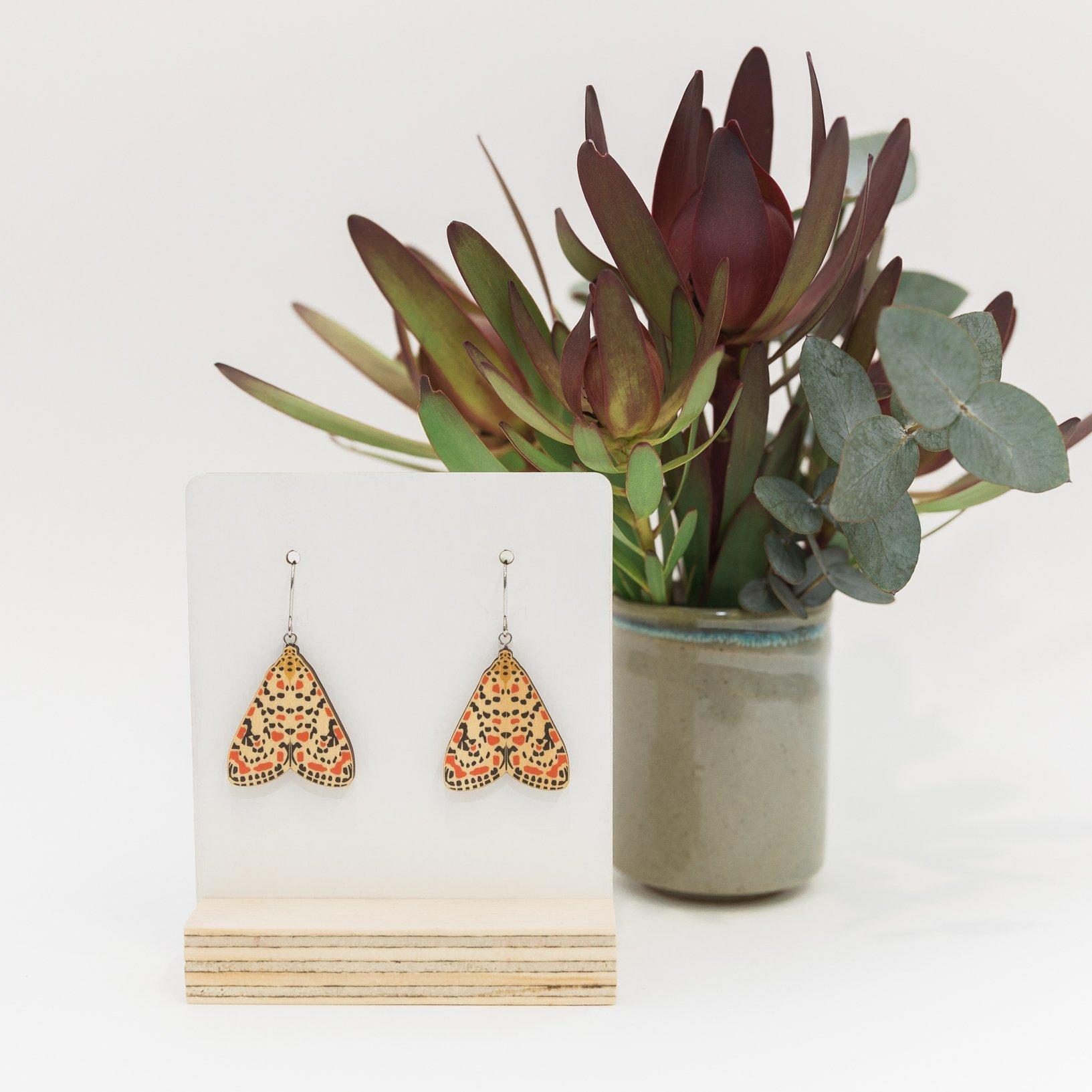 Earrings - Mini Kusama's Muse Moths