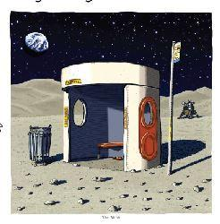A3 Print - Bus Shelter on the Moon