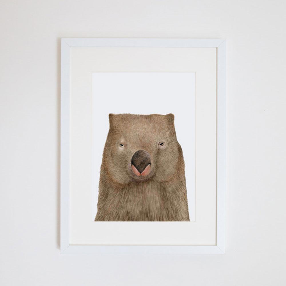 Print - A3 - Winston the Wombat - Unframed
