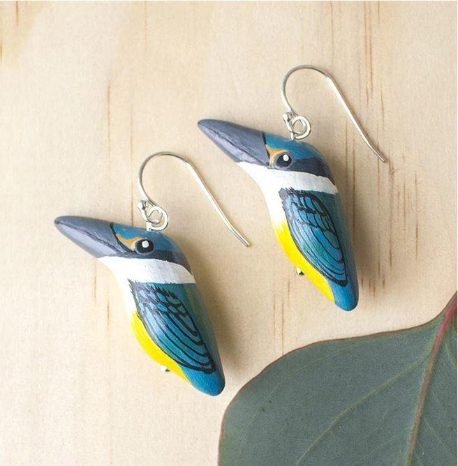 Earrings - Sacred Kingfisher