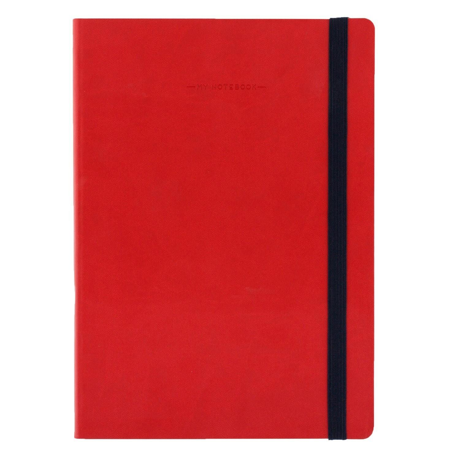 Notebook - Large - Unlined - Red