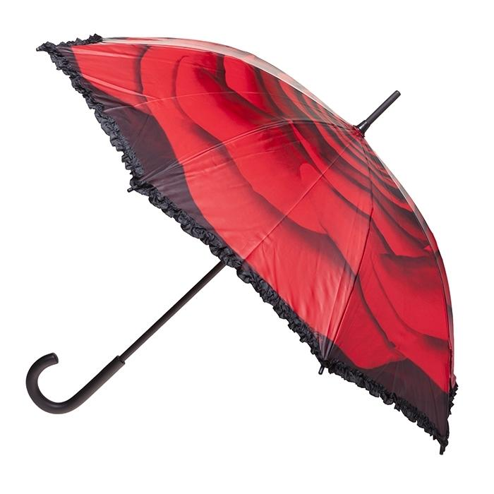 Umbrella - Red Rose with Frill
