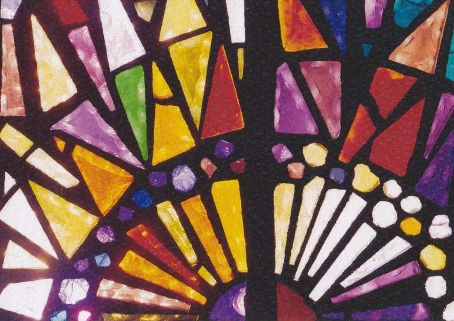 NLA Post Card - Leonard French Stained Glass Windows