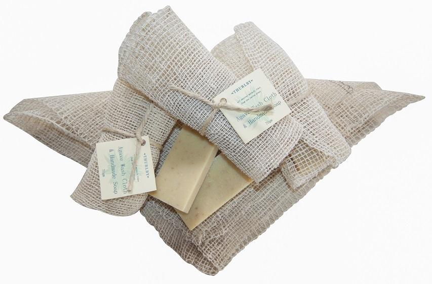 Agave Wash Cloth & Handmade Soap