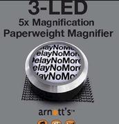 3-LED 5x Manification Paperweight Magnifier