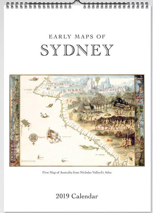 2019 Early Maps of Sydney Wall Calendar