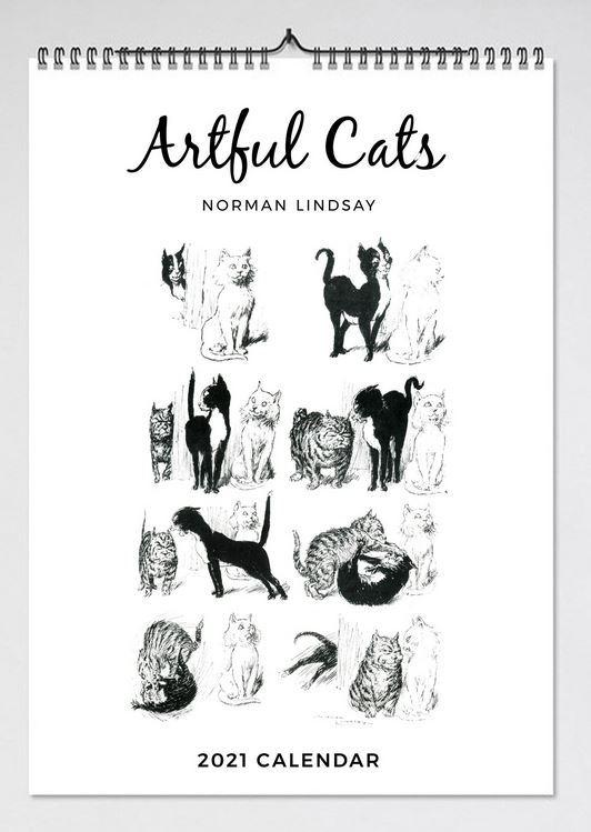 2021 Artful Cats Wall Calendar