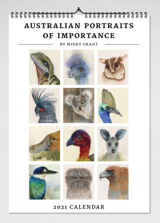 2021 Australian Portraits of Importance Wall Calendar