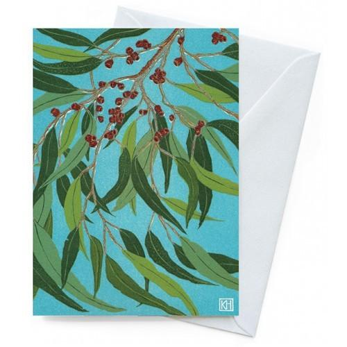 Card - Summer Gumleaves