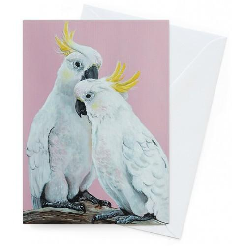 Card - Sulphur Crested Pair