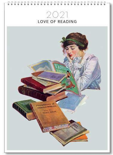 2021 Calendar - Love Of Reading - Medium Wall Calendar