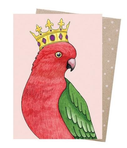 Card - Crowned Parrot